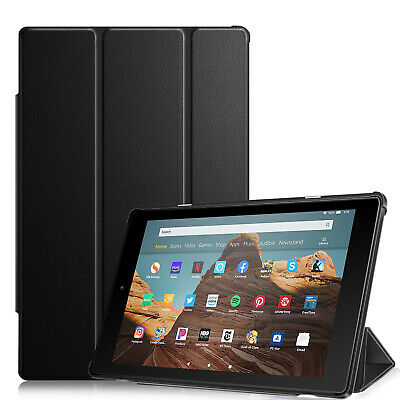 "For Amazon Fire HD 10 9th 7th 10.1"" SlimShell Case Cover Stand Magnetic Close"