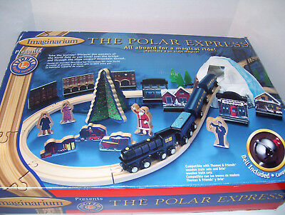 Imaginarium Lionel Wooden Train Polar Express Brio Thomas Complete w/Instruction