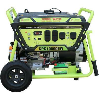 Green-Power America 10000 Watt 15 HP Portable Gas Power Generator/Electric Start