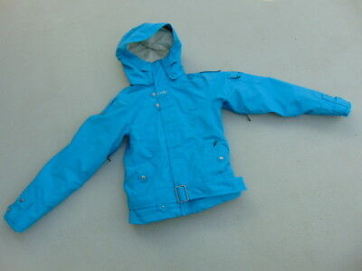 Winter Coat Ladies Size X Small Oakley Loose Fit Belted With Removeable Hoodie