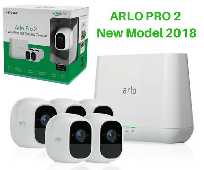 Arlo Pro 2 by NETGEAR 2 Camera Security System wth Siren 1080p HD New Model 2017