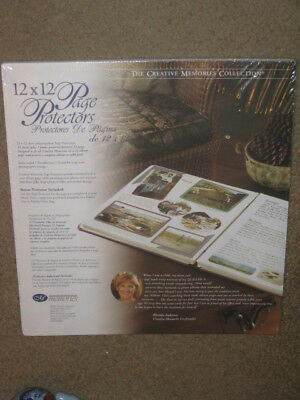 "Creative Memories 12 x 12"" Page Protectors NEW In Package 16 sheets"