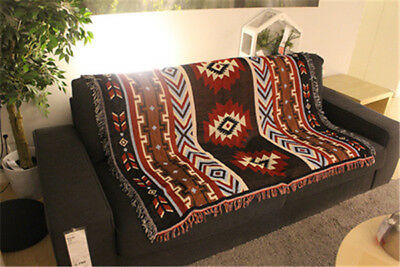 Retro Indian National Creative Geometry Blanket Sofa Bed Blankets Tapestry