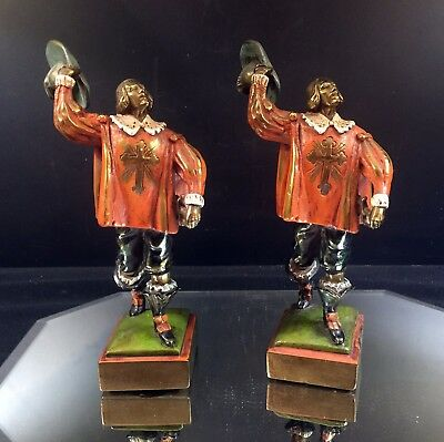 Crusaders--Pair of Figurines--Bronze Clad--Bookends--Excellent--BUY IT NOW!