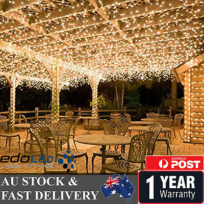 500LED 100M Warm White Fairy Christmas String Strip Lights Wedding Party Outdoor