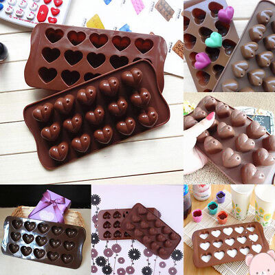 Silicone Chocolate Moulds Candy Love Heart Shape Maker Jelly Ice Cube Mold Tray