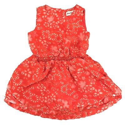 Juicy Couture Red Floral Dress Cute Kid Girl Sz 4