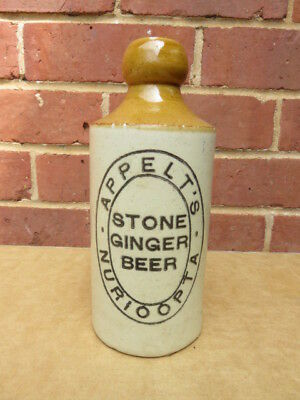 Old Appelts Stone  Ginger Beer Bottle Nuriootpa South Australia