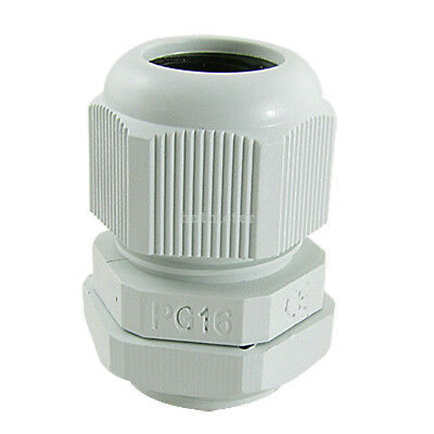 10Pcs PG16 10-13mm Waterproof IP67 Wht Plastic Cable Glands Joints White 28x40mm