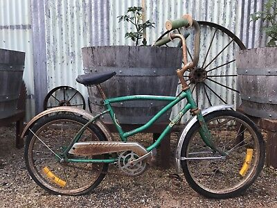 VINTAGE 1970's RETRO GREEN MYER SPEED DRAGSTER STYLE BICYCLE. CHILDREN'S BIKE