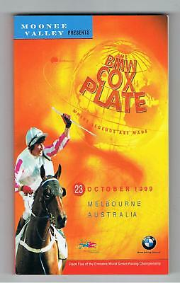 MOONEE VALLEY W.S.COX PLATE RACEBOOKS (5). 1999,2000, 2001, 2002 and 2006.