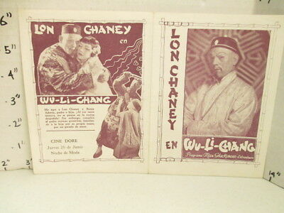 LON CHANEY 1920s movie herald (1 item) MR. MISTER WU S. American chinese racist