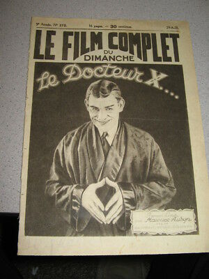 Lon Chaney 1929 THE MONSTER Dr X French Film Complet photoplay pulp magazine