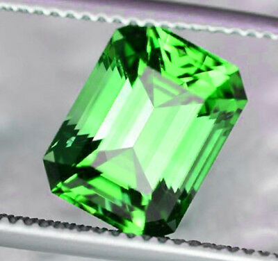 Tsavorite Garnet - 1.33 Carats - Unheated and Untreated - Emerald Cut