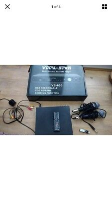 VOCAL STAR KARAOKE VS 600 PLAYER - Boxed with 2 Microphones and 100s of Songs