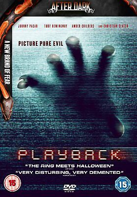 Playback 2012 Dvd Horror Thriller Film Johnny Pacar Toby Hemingway New