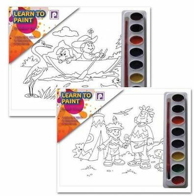 8 Paints, Brush Set Art Painting Activity To Draw Different Designs For Kids Fun