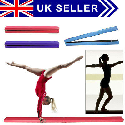 7FT 2.1M Gymnastics Folding Balance Beam 10FT Tumble Mat Gym Home Training Sport