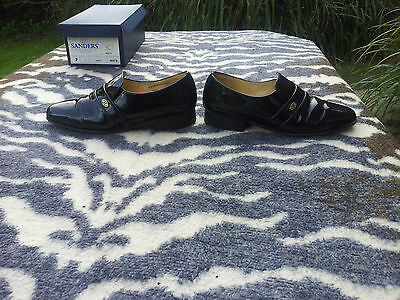 Vintage Sanders Patent Leather Shoes made in England UK size 7 EU size 40