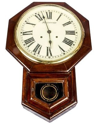 Antique Ansonia Vintage Old 8 Cornered Pendulum Home Decor Wall Clock HB 055