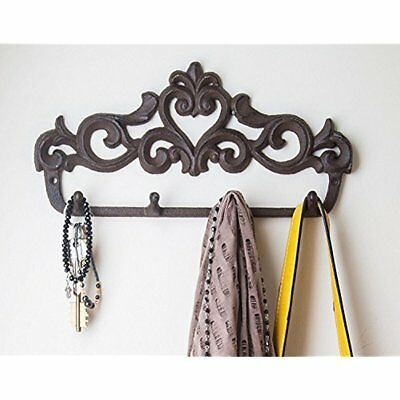Decorative Coat Hooks Cast Iron Wall Rack Vintage Design Hanger With For Coats,
