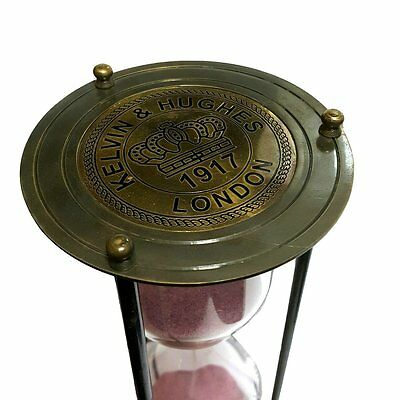 Antiques Kelvin And Hughes Brass Antique Collectibles Sand Timer Hourglass ST 02