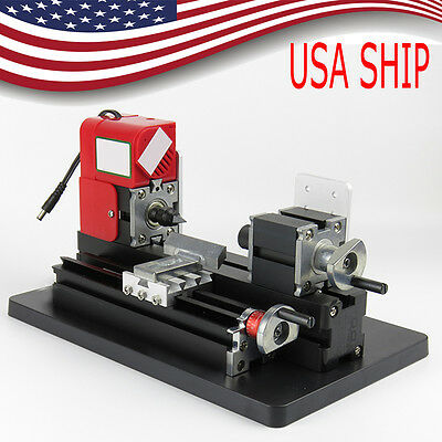 US SHIP!Lathe Machine Saw Mini Combined Machine Tool For DIY Model Making Crafts