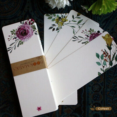 40 Pcs/lot DIY Cute Creative Flower Paper Bookmarks Creative Vintage Word Card