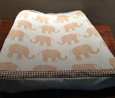 Nappy Change Mat Cover for babies & toddlers - Elephants on Blue