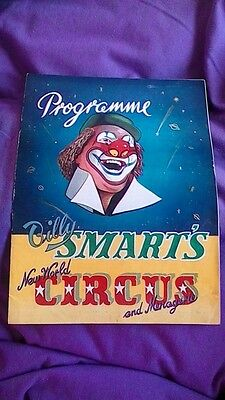 Billy Smarts New World Circus and Menagerie 1955 Programme Excellent Condition