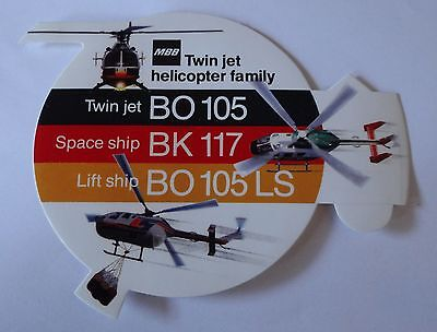 Aufkleber MBB Twin jet helicopter family BO105 BK117 Sticker Autocollant