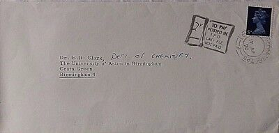 Great Britain 1970 London & Edinburgh T.p.o. + Posted Late Fee Not Paid Cachet