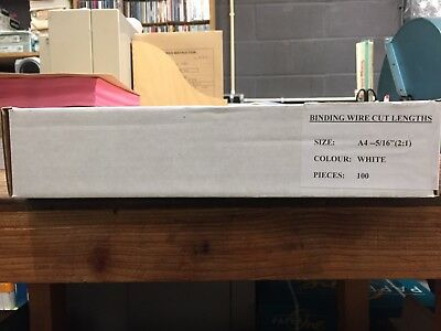 White Wire Binding A4 2.1 5/16 8Mm Box Of 100