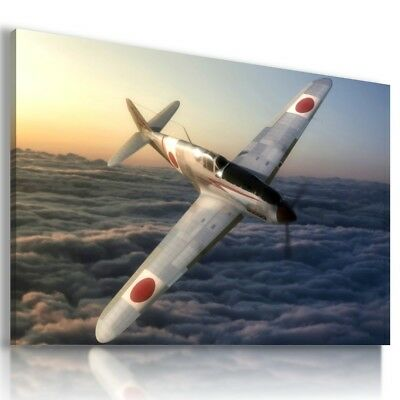 AIRCRAFT AIRPLANE SKY MODERN DESIGN CANVAS WALL ART PICTURE LARGE SIZES AR9 X
