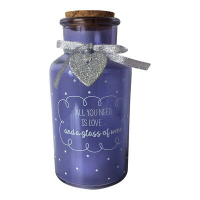 All You Need is Love Purple Light Up Glass Jar - Bottle with Lights LED Gift