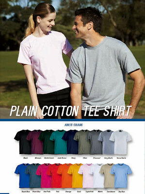 Unisex Adults 100% Pure Cotton Plain Colour soft and Comfort Casual Tee Shirt