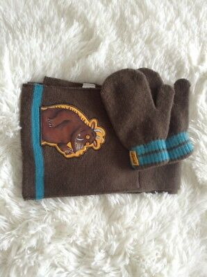 Infants Gruffalo Scarf And Gloves 2/3years