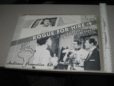 TV show promo photo press kit ROGUE FOR HIRE 1950s (12 items) CBS Jerome Thor