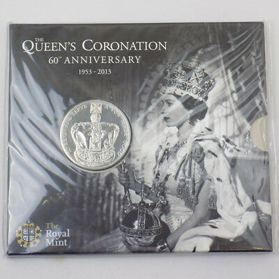 2013 UK Queen's Coronation 60th Anniversary BU £5 Coin Presentation Pack Sealed