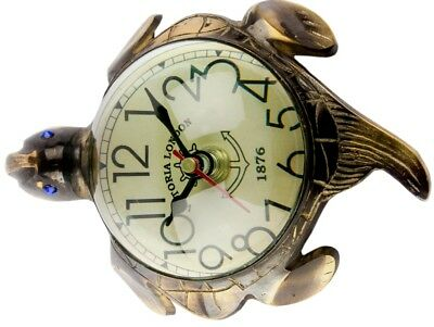 Tortoise Look Antique Symbolic Magnifying Thick Glass Wall Watch Clock Wc 09