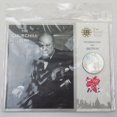 2010 UK Celebration of Britain Churchill Base Proof £5 Coin - in Sealed Pack