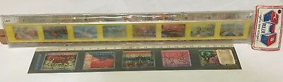 Vintage Plastic School Rulers 3D Flicker Picture Hawaii + Asean Conference Exc!!