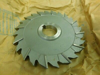 "F&D USA 6"" x 1/2"" x 1-1/4"" HSS Staggard Tooth Slot Milling Cutter"