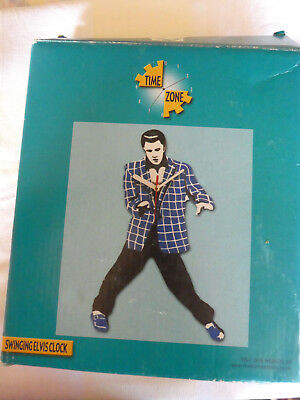 Elvis Presley Swinging Clock by Time Zone (battery operated)