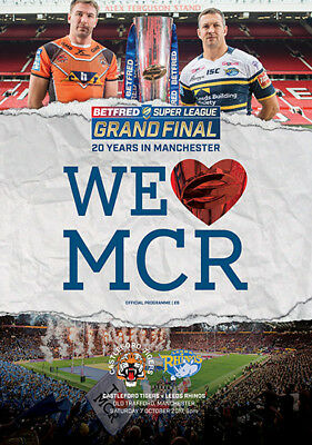 CASTLEFORD TIGERS v LEEDS RHINOS RUGBY SUPER LEAGUE GRAND FINAL PROGRAMME 2017