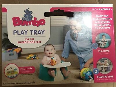 Nib Bumbo  White Play Tray - Keep Toys And Snacks Within Reach