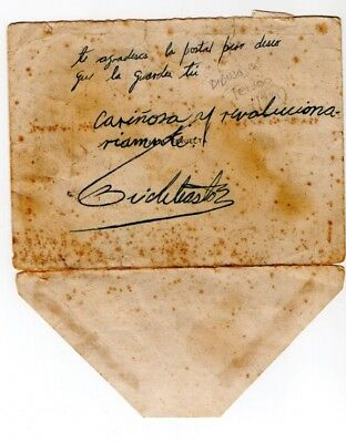 Revolution autograph SIGNED BY FIDEL CASTRO in an envelope