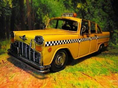Taxi Model Tinplate Retro Shabby Chic Taxi Model Us New York Style Cab Model