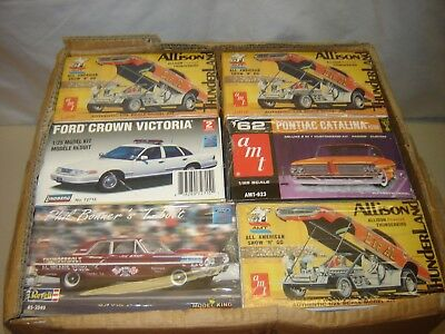 LOT of 6 Model Kits ALL OPEN for SIX PACK PARTS KIT BASH 1/24 1/25