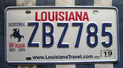 LOUISIANA Battle Of New Orleans,  AMERICAN LICENSE NUMBER PLATE #LAbono